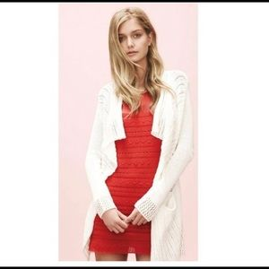 Guinevere Pink Coral Knit Short Sleeve Dress Mini